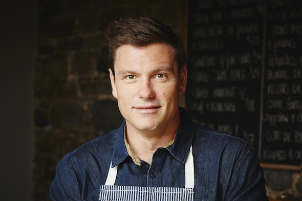 Chef Chuck Hughes photographed by Dominique Lafond