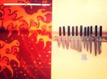 Knife display at Knifewear