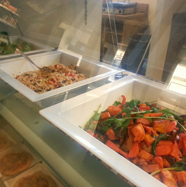 A trio of salads served fresh daily.