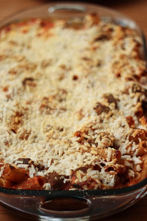 Pasta Bake – sans olives